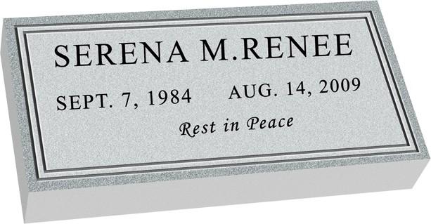 MF01 Flat Grave Marker Headstone - Template