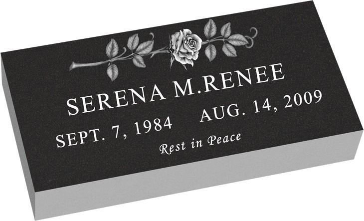 MF01 Flat Grassmarker Grave Headstone